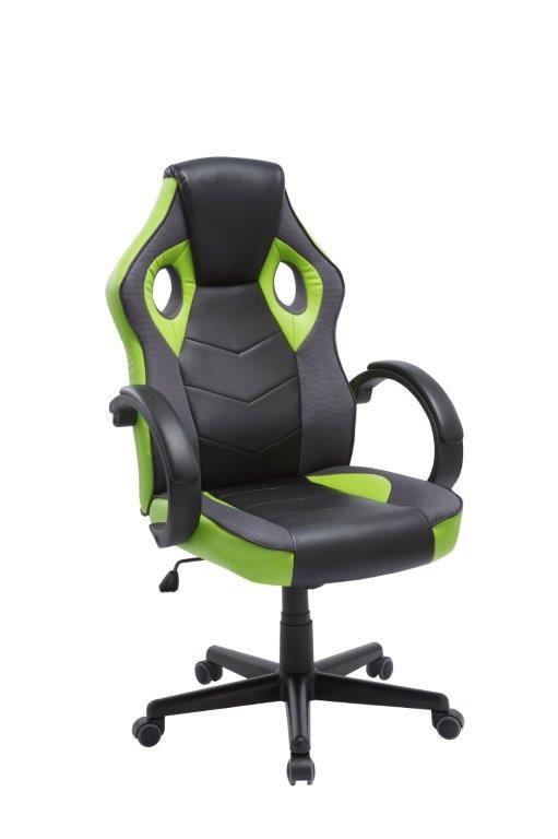 Cadeira Gamer Giratória Preta e Verde League - at.home
