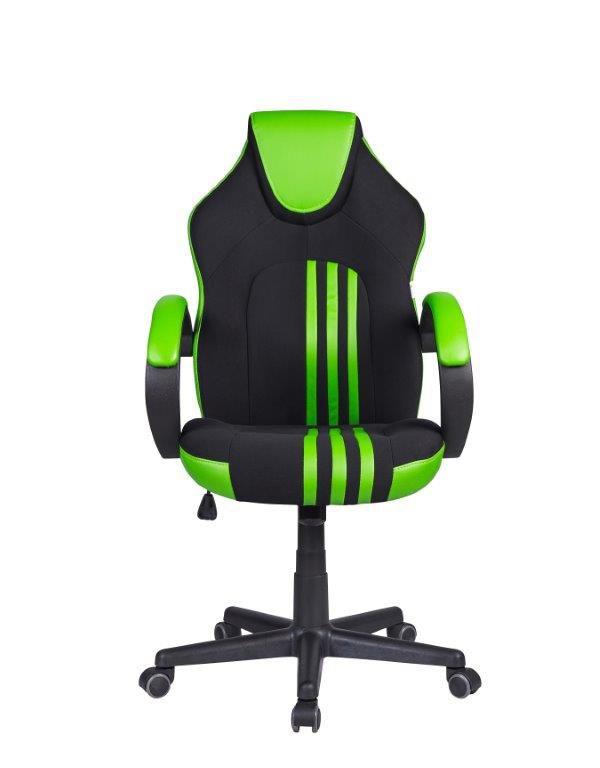 Cadeira Gamer Giratória Preta e Verde Stripes - at.home