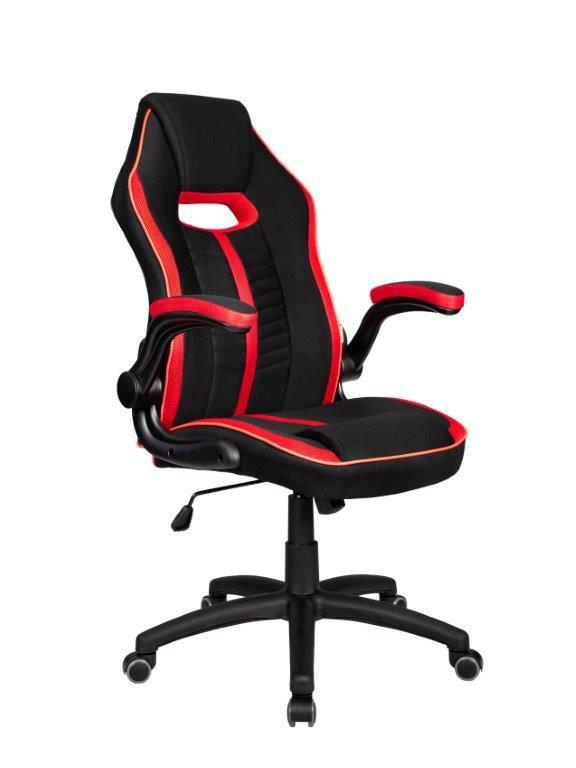 Cadeira Gamer Giratória Preta e Vermelha Epic- at.home