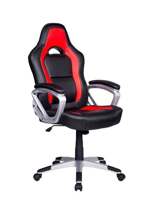 Cadeira Gamer Giratória Preta e Vermelha Legends - at.home