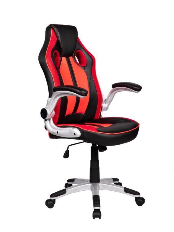 Cadeira Gamer Giratória Preta e Vermelha Squad - at.home