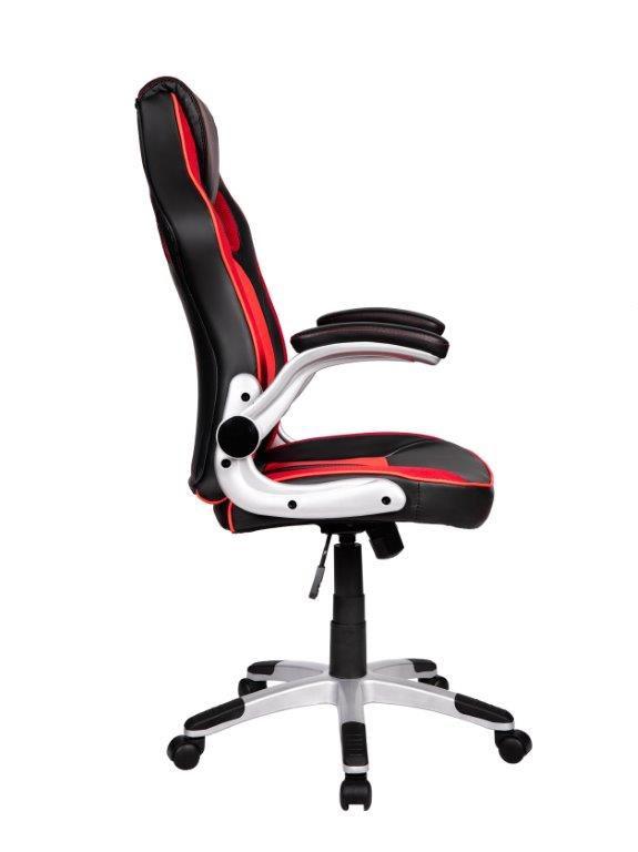 Cadeira Gamer Giratória Preta e Vermelha Squad- at.home