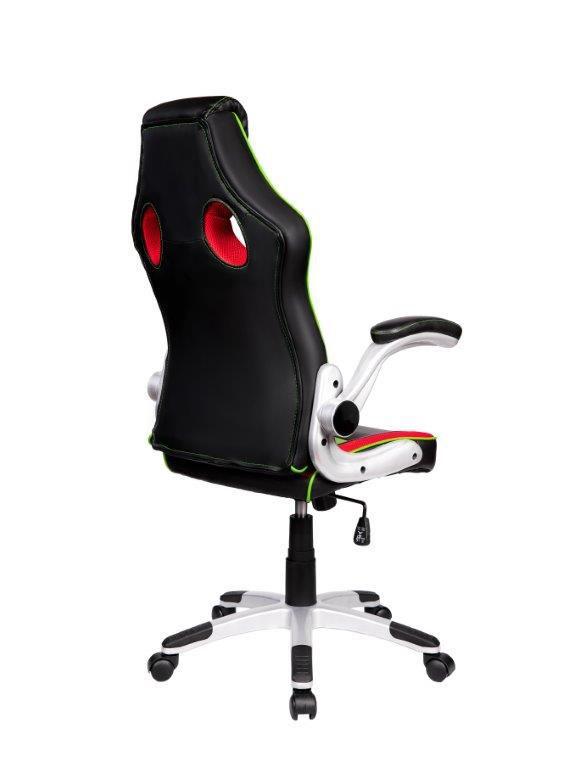 Cadeira Gamer Giratória Preta, Vermelha e Verde Squad- at.home