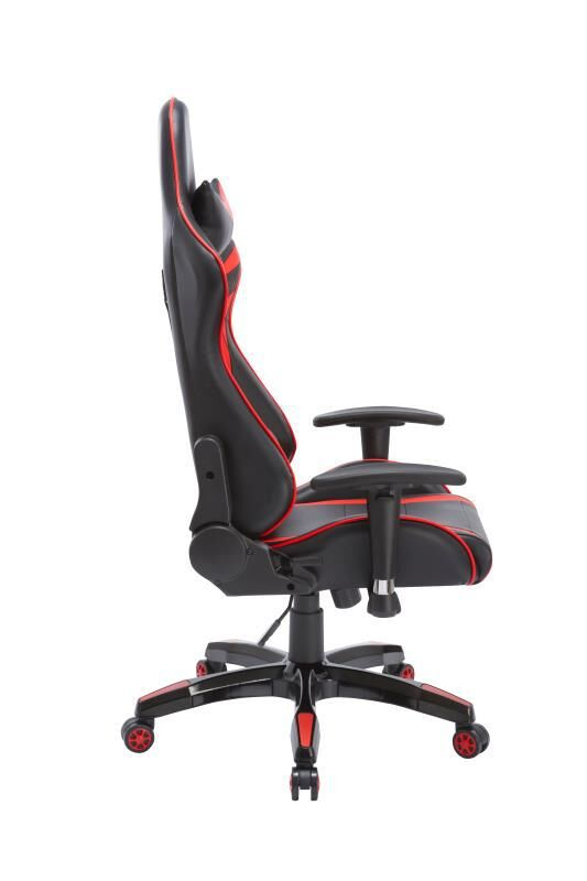 Cadeira Gamer Giratória Reclinável c/ Braço Ajustável Vermelha e Preta Arena - at.home