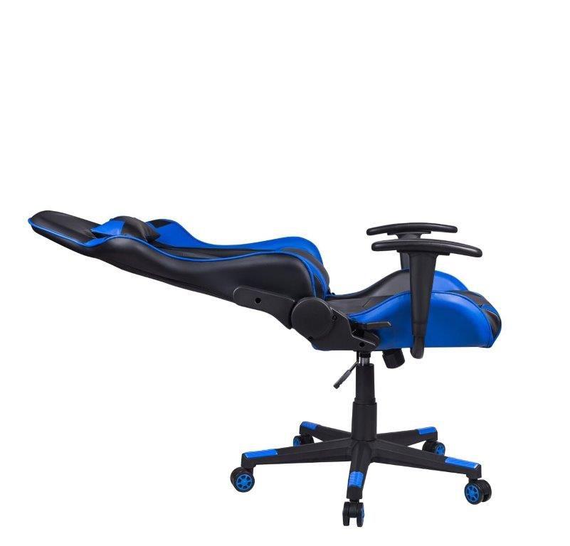 Cadeira Gamer Giratória Reclinável Preta e Azul Fort - at.home