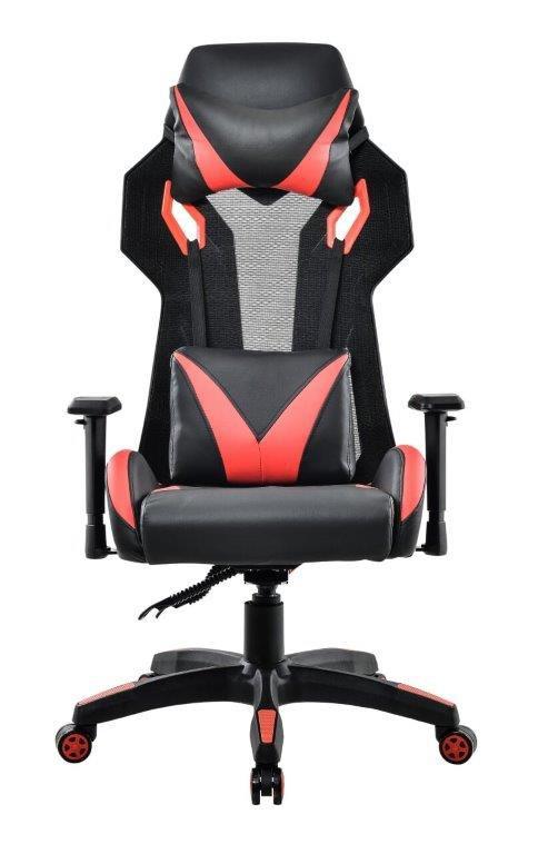 Cadeira Gamer Giratória Reclinável Preta e Vermelha Strike - at.home