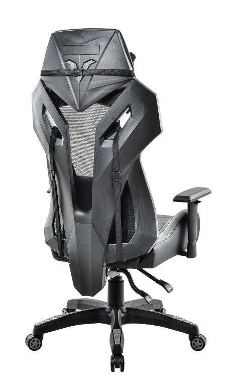 Cadeira Gamer Giratória Reclinável Preta e Cinza Strike - at.home