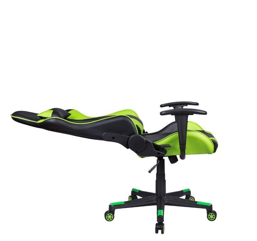 Cadeira Gamer Giratória Reclinável Preta e Verde Fort - at.home
