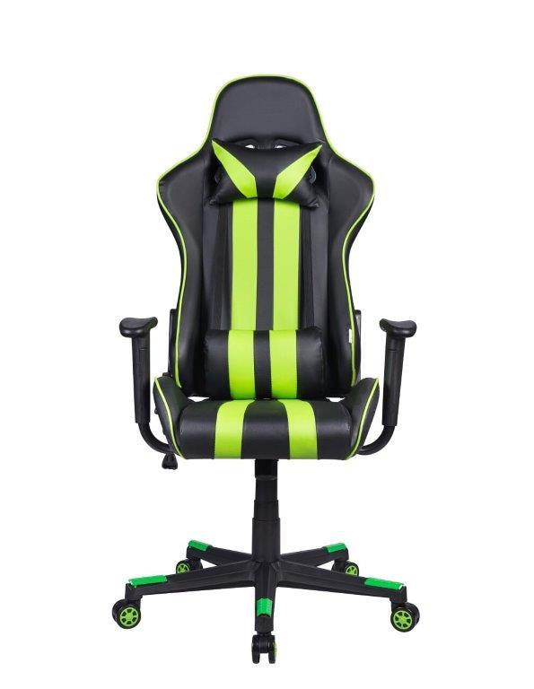 Cadeira Gamer Giratória Reclinável Preta e Verde Nite - at.home