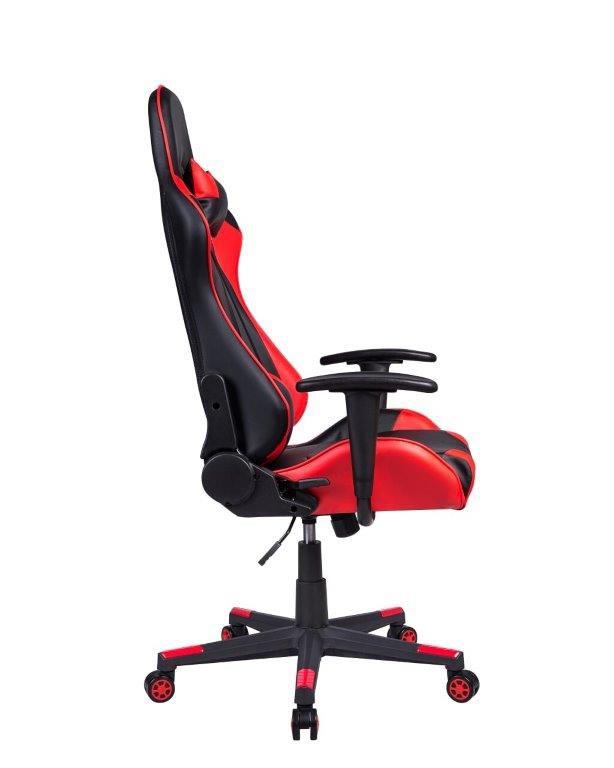 Cadeira Gamer Giratória Reclinável Preta e Vermelha Fort - at.home