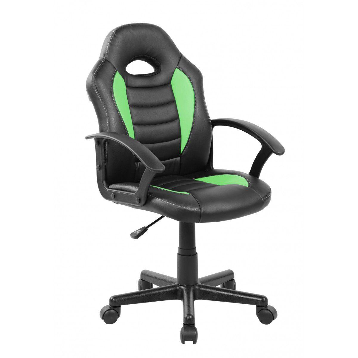 Cadeira Gamer Giratória Verde e Preta Kids - at.home