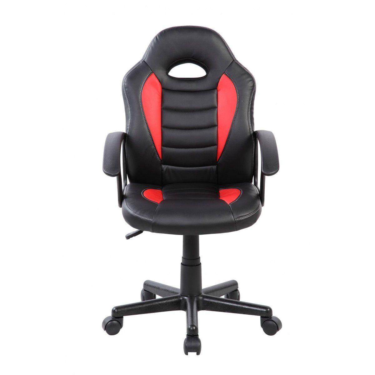 Cadeira Gamer Giratória Vermelha e Preta Kids - at.home