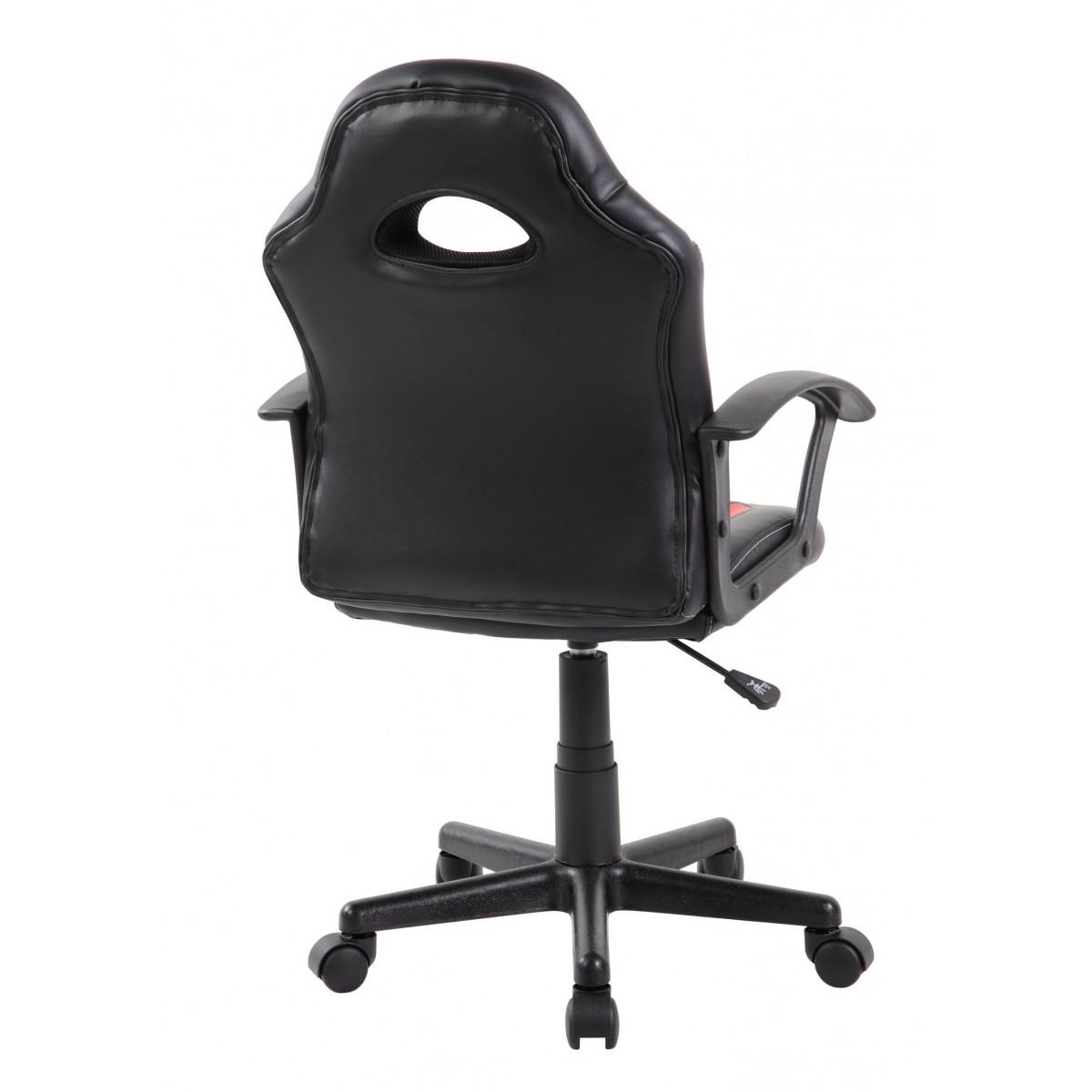 Cadeira Gamer Kids em Couro PU Preta com Vermelha Pelegrin PEL-9353