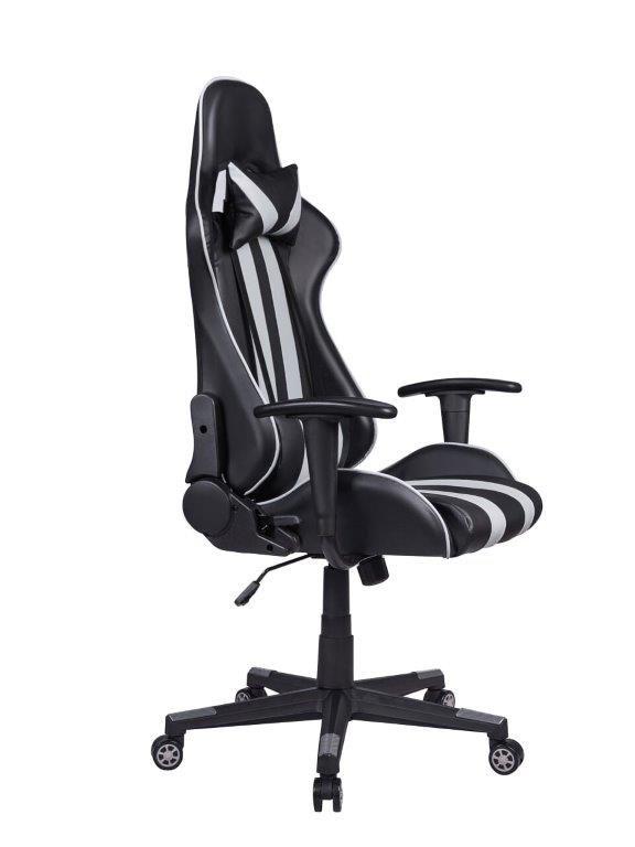 Cadeira Gamer Pelegrin em Couro PU Reclinável PEL-3013 Preta e Cinza