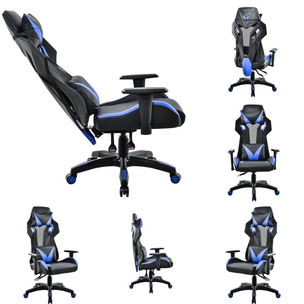 Cadeira Gamer Pelegrin em Couro PU Reclinável PEL-3014