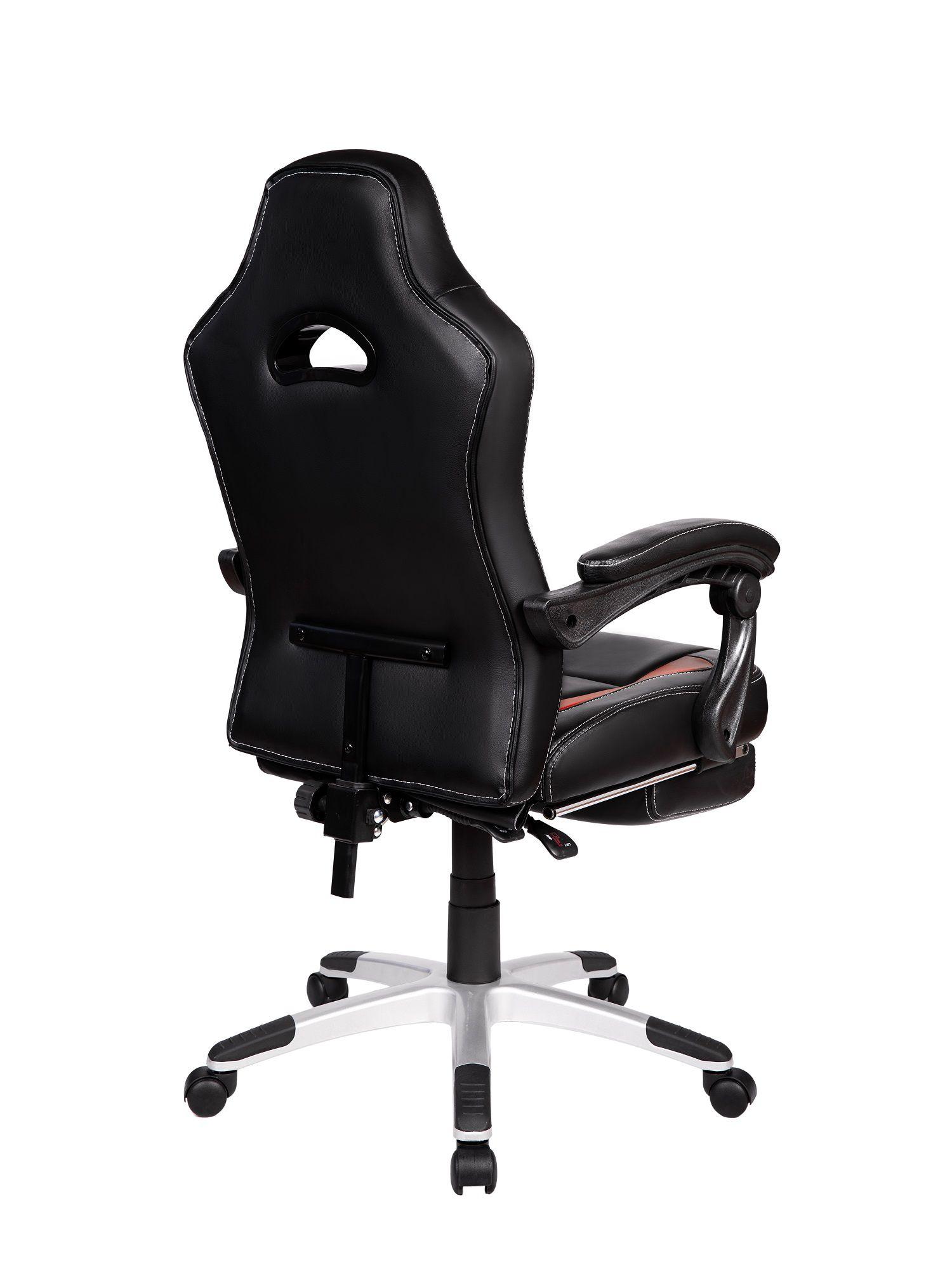 Cadeira Gamer Pelegrin PEL-3006 Couro PU Preto e Vermelha