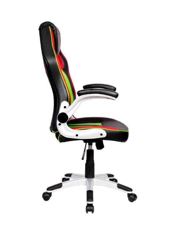 Cadeira Gamer Pelegrin PEL-3009 Couro PU Preta, Vermelha e Verde