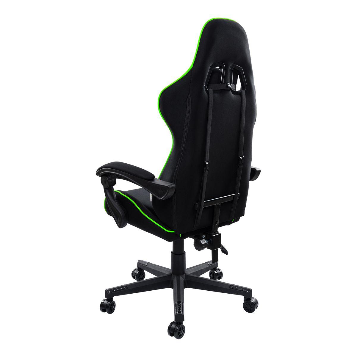 Cadeira Gamer Pelegrin Reclinável PEL-3018 Preta e Verde