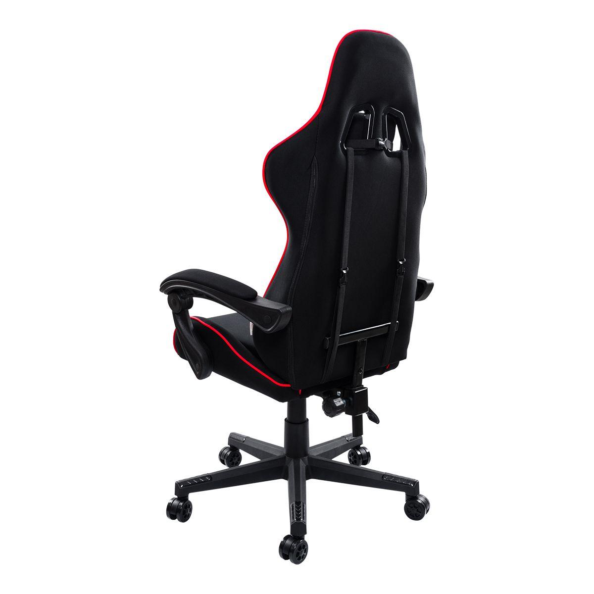 Cadeira Gamer Pelegrin Reclinável PEL-3018 Preta e Vermelha