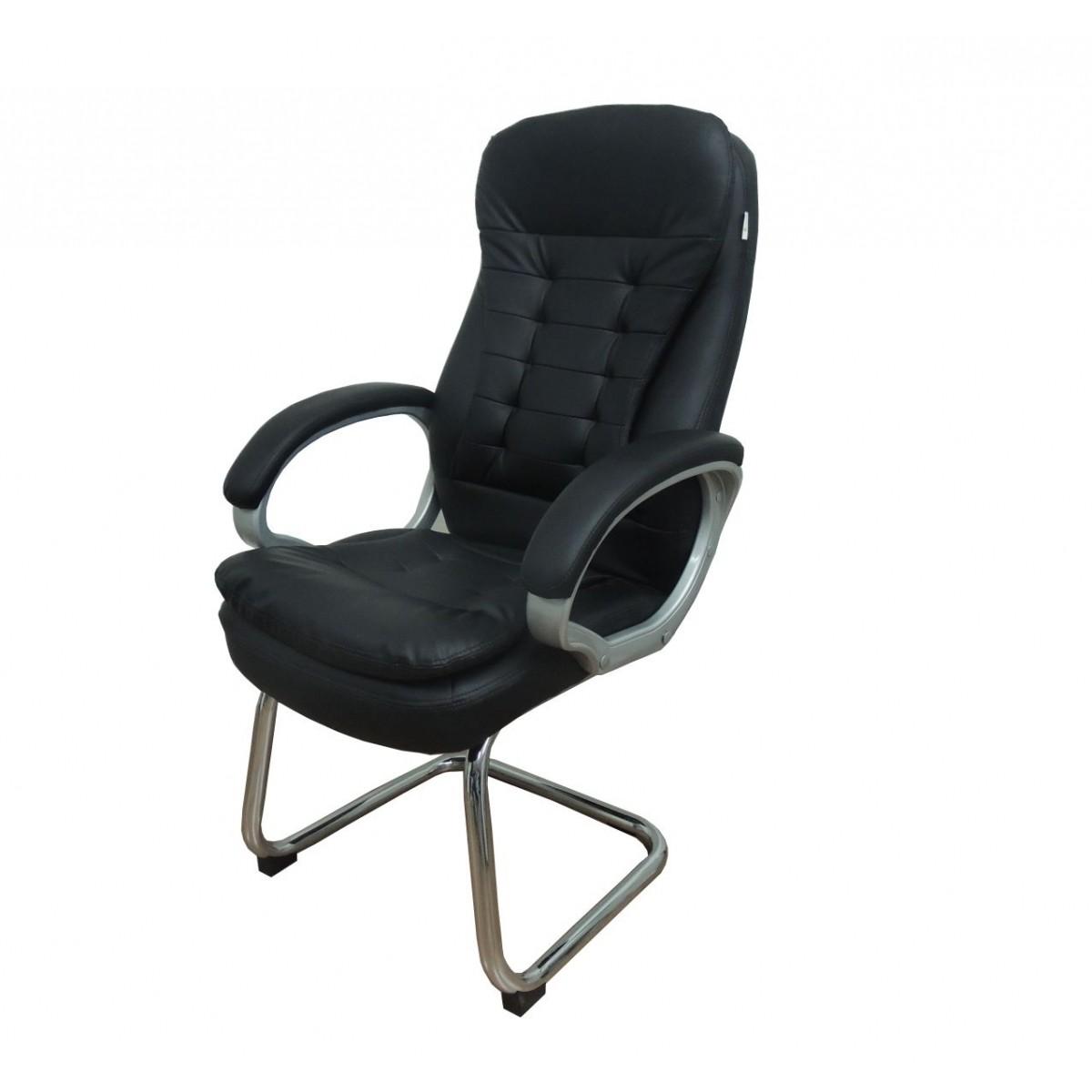 Cadeira Interlocutor em Couro PU Pelegrin PEL-1693V