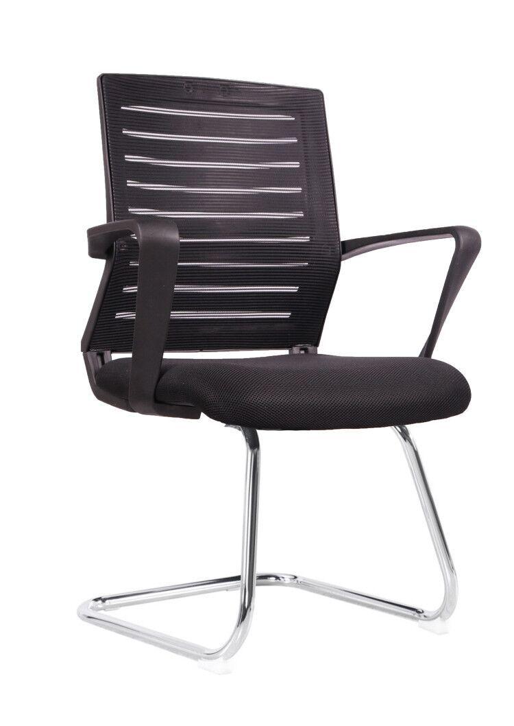 Cadeira Interlocutor Pelegrin PEL-8501/1 Tela Mesh Preta