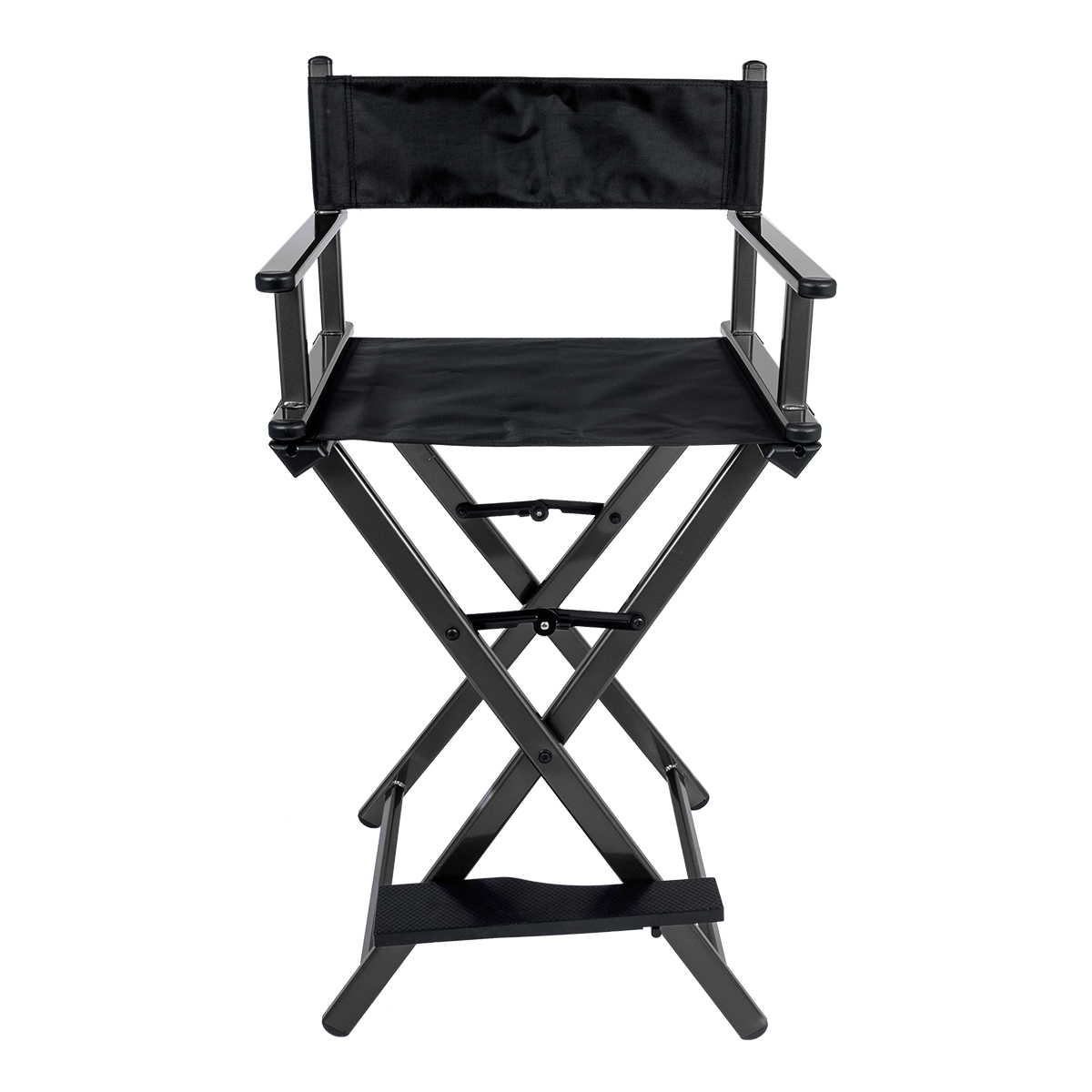 Cadeira Maquiador Diretor Cinema Alumínio Pelegrin PEL-Y001 Preta