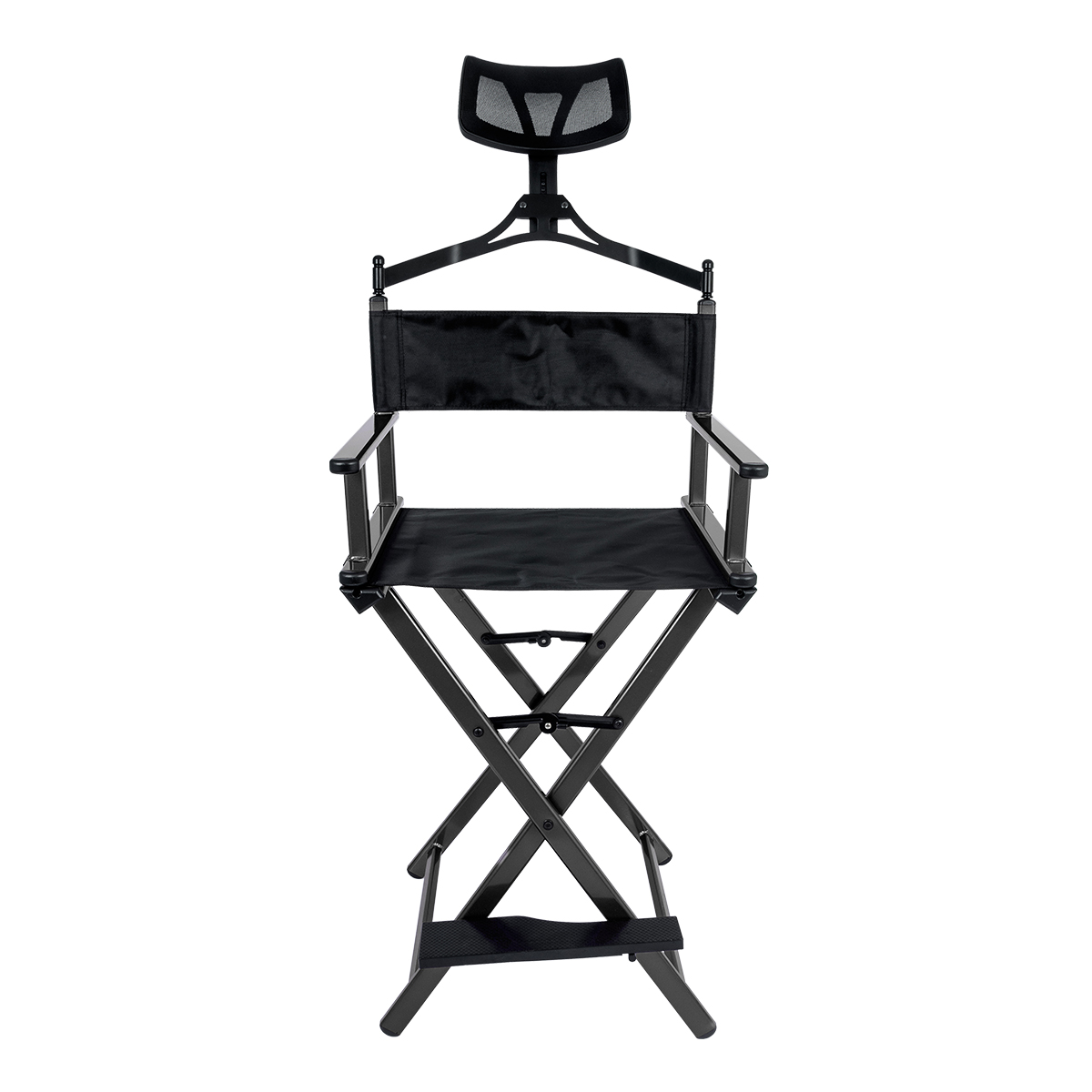 Cadeira Maquiador Diretor Cinema Alumínio Pelegrin PEL-Y002 Preta