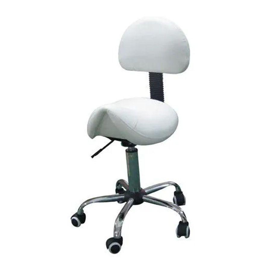 Cadeira Mocho Sela Pelegrin PEL-1140 em Couro PU Branca
