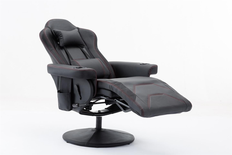 Cadeira Poltrona Gamer Pelegrin PEL-Y101 Couro PU Preta