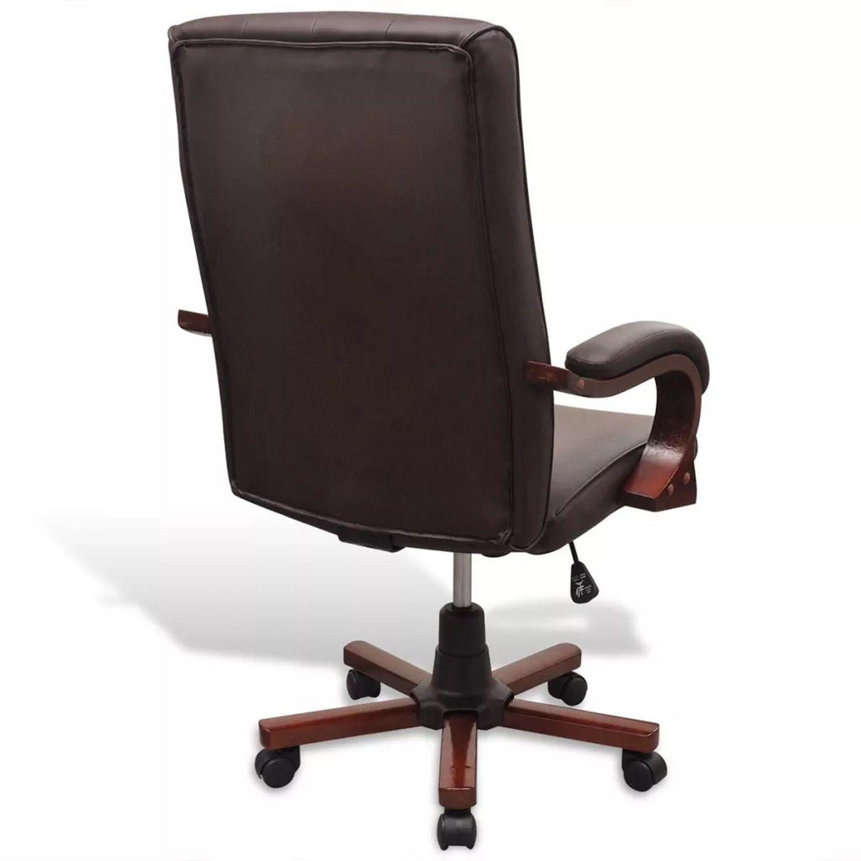 Cadeira Presidente em Couro PU Pelegrin Marrom PEL-7616C