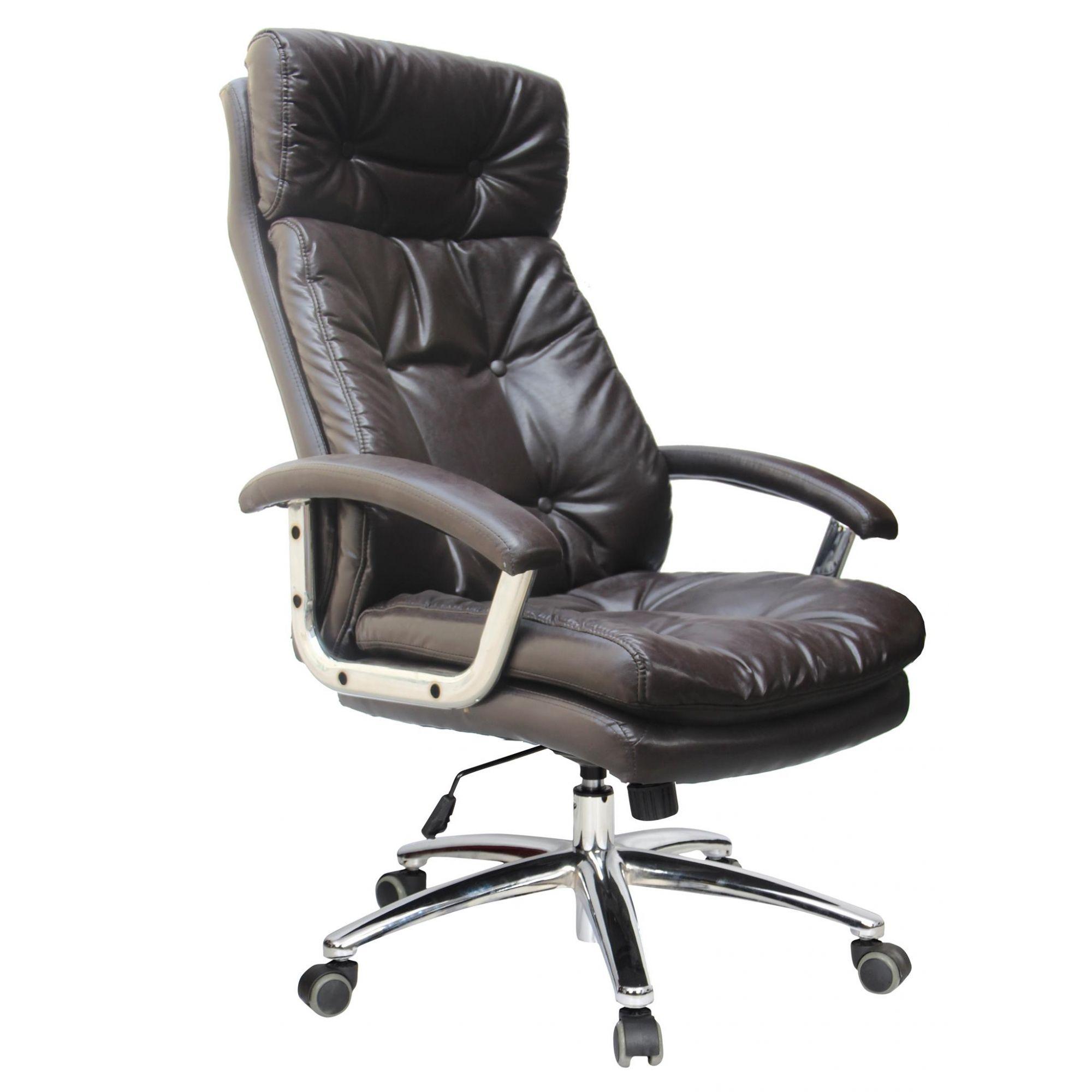 Cadeira Presidente em Couro PU Pelegrin PEL-7613 Marrom