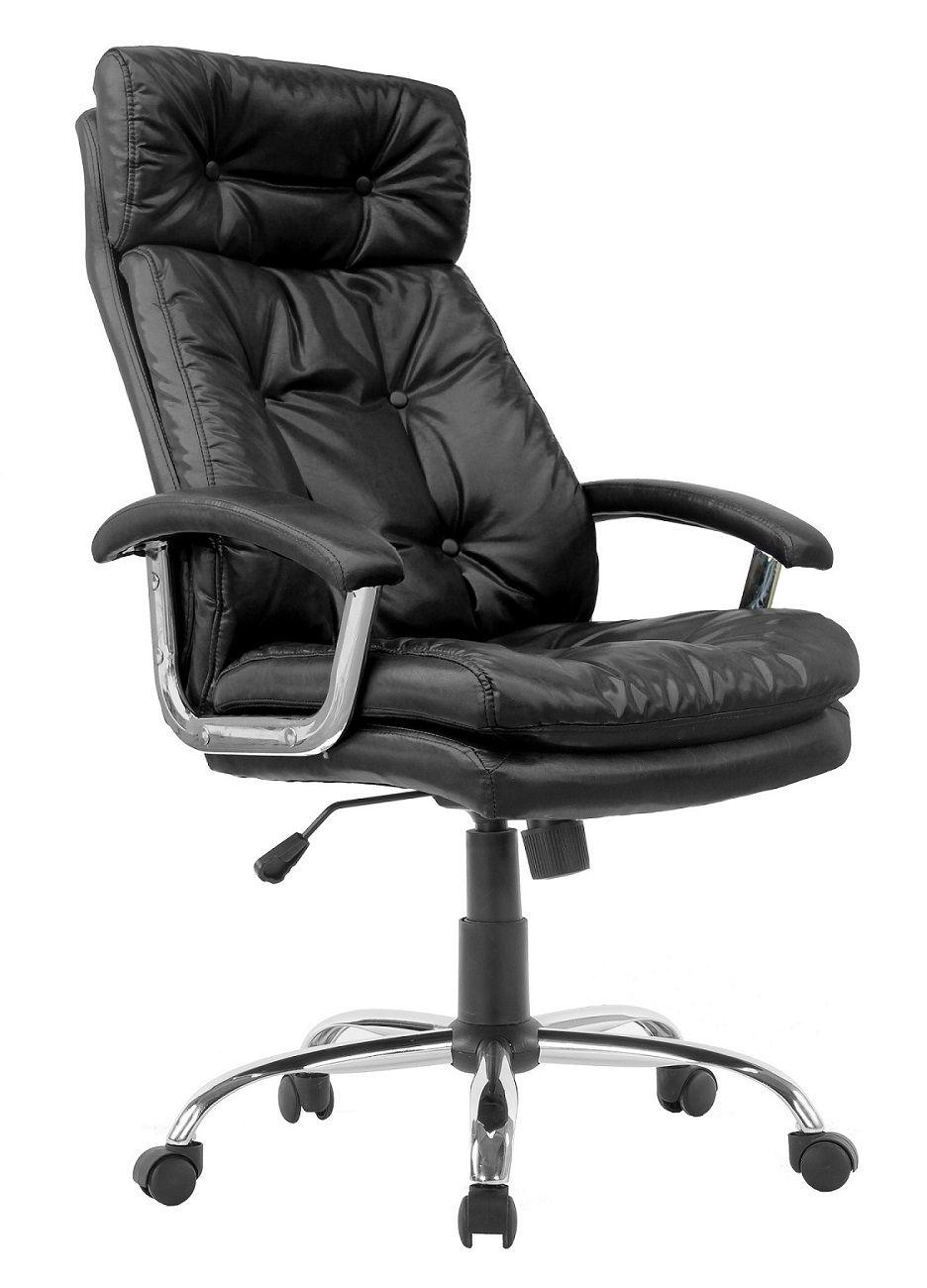 Cadeira Presidente Pelegrin PEL-7613  em Couro PU Preta