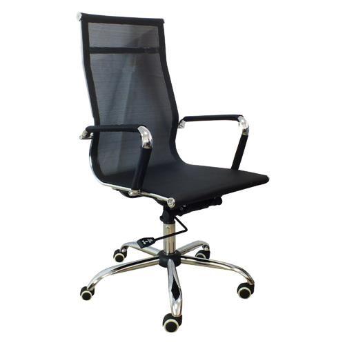 Cadeira Presidente em Tela Mesh PEL-7010H Preta Design Charles Eames