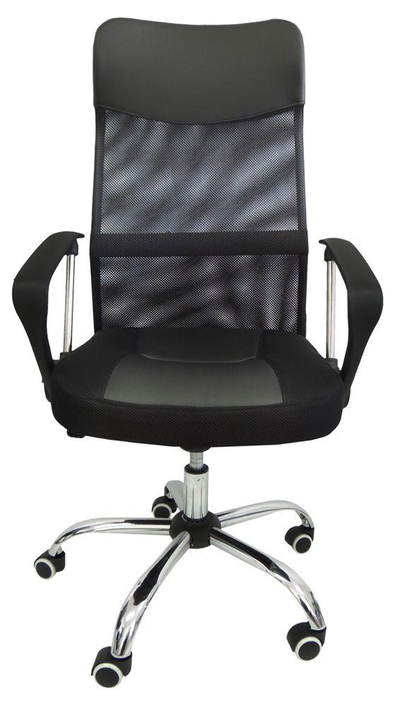 Cadeira Presidente Pel-8009 Tela Mash Giratória Preto