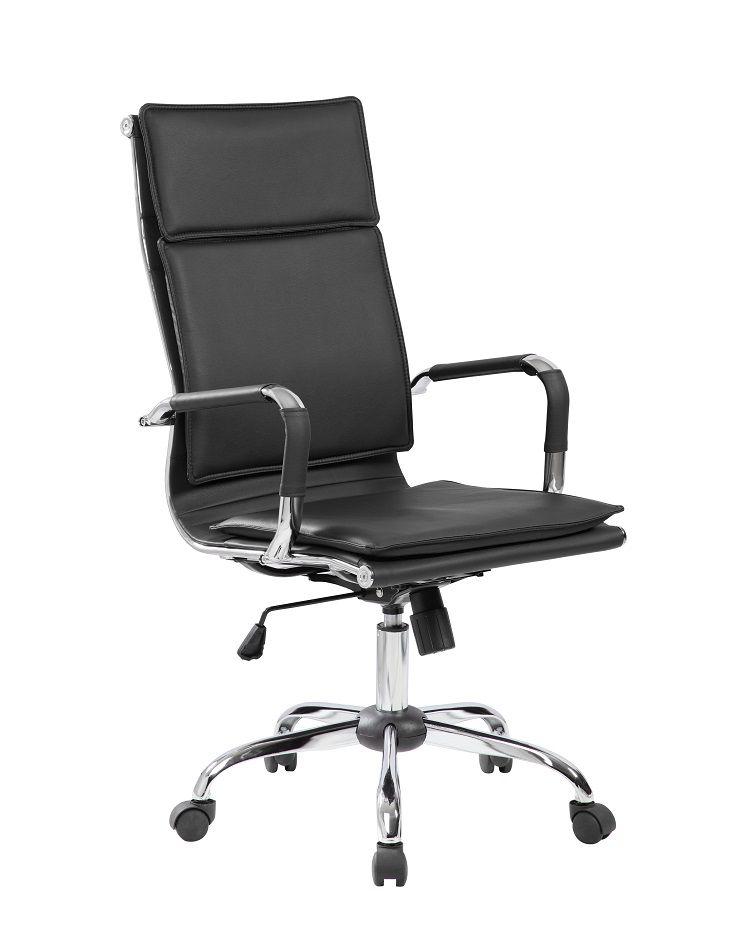 Cadeira Presidente Pelegrin em Couro PU PEL-8003H Preta Design Charles Eames