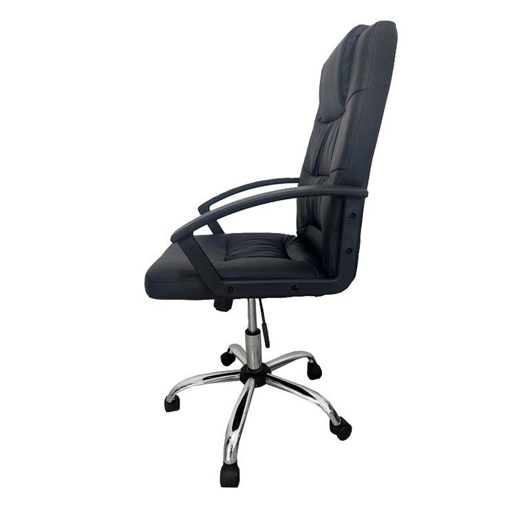 Cadeira Presidente Pelegrin em Couro PU Preta PEL-8208H