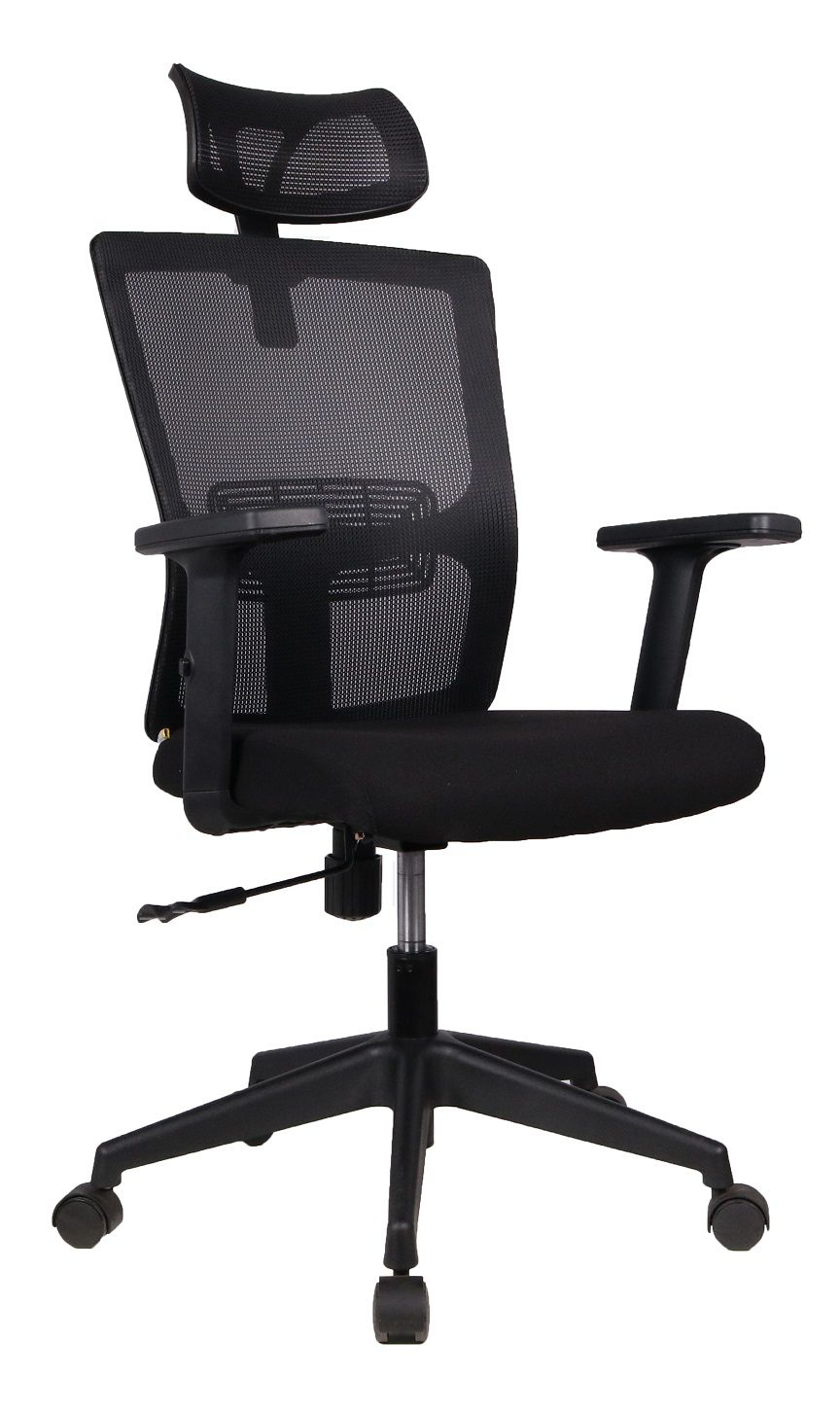 Cadeira Presidente Pelegrin PEL-2180 Tela Mesh Preta
