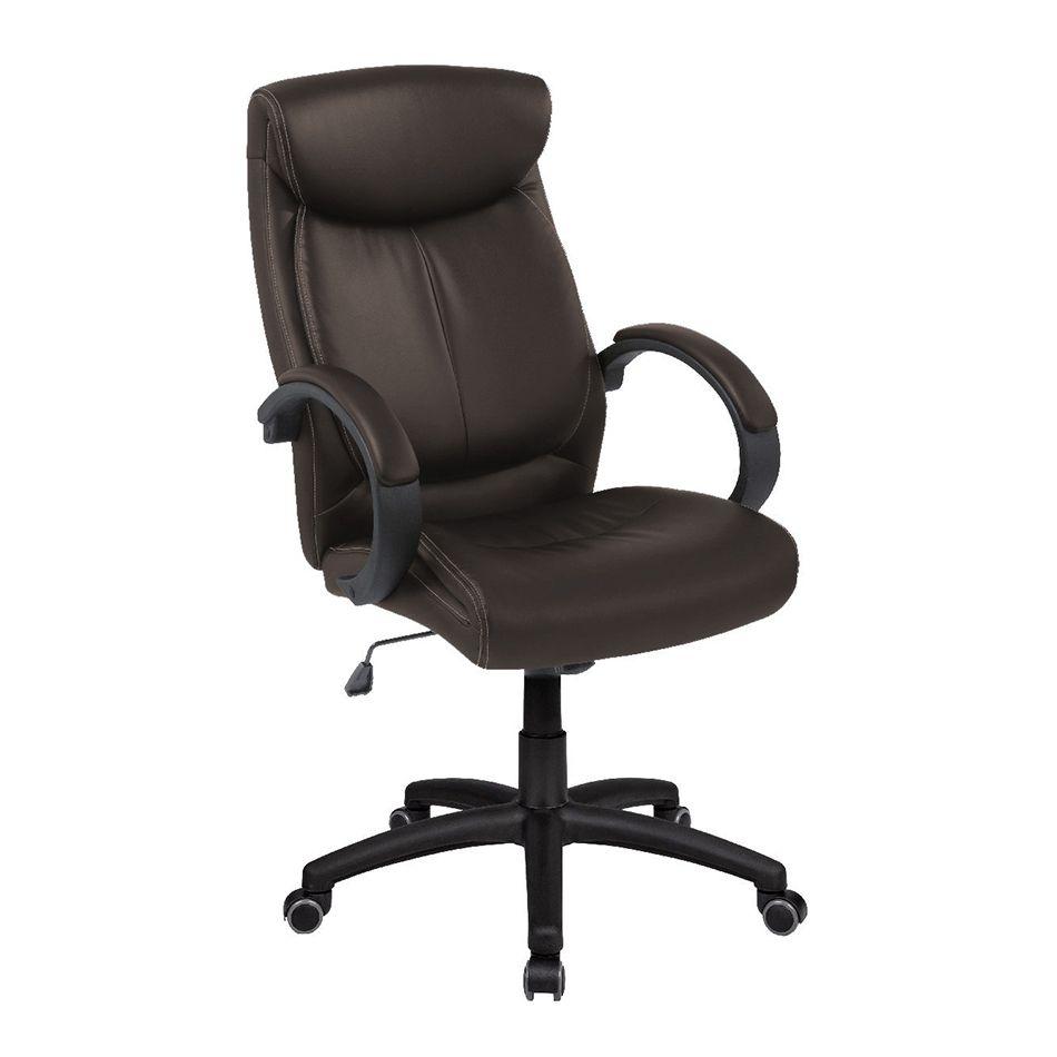 Cadeira Presidente Pelegrin PEL-4109 em Couro PU Marrom