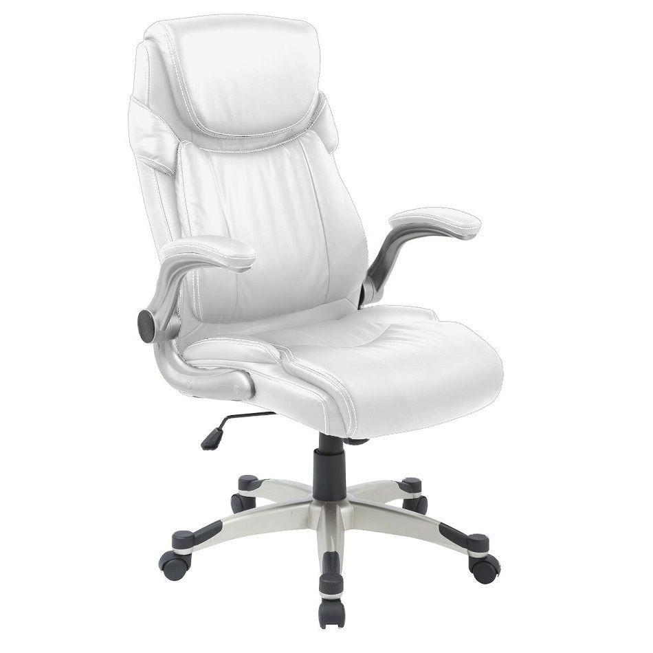 Cadeira Presidente Pelegrin PEL-4209 em Couro Pu Branca