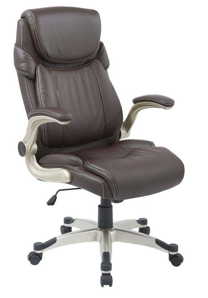 Cadeira Presidente Pelegrin PEL-4209 em Couro Pu Marrom