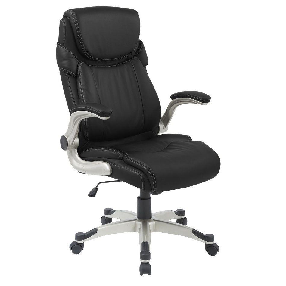 Cadeira Presidente Pelegrin PEL-4209 em Couro Pu Preto