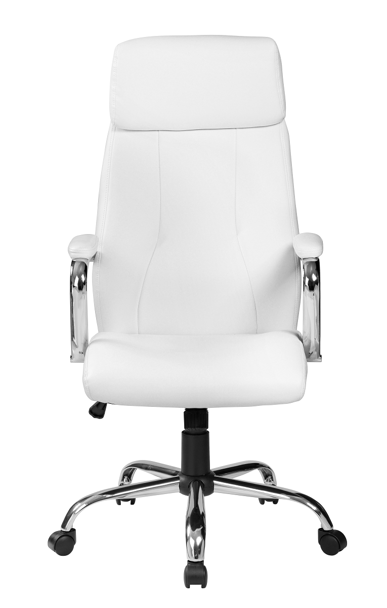 Cadeira Presidente Pelegrin PEL-9027 Couro PU Branco Off White
