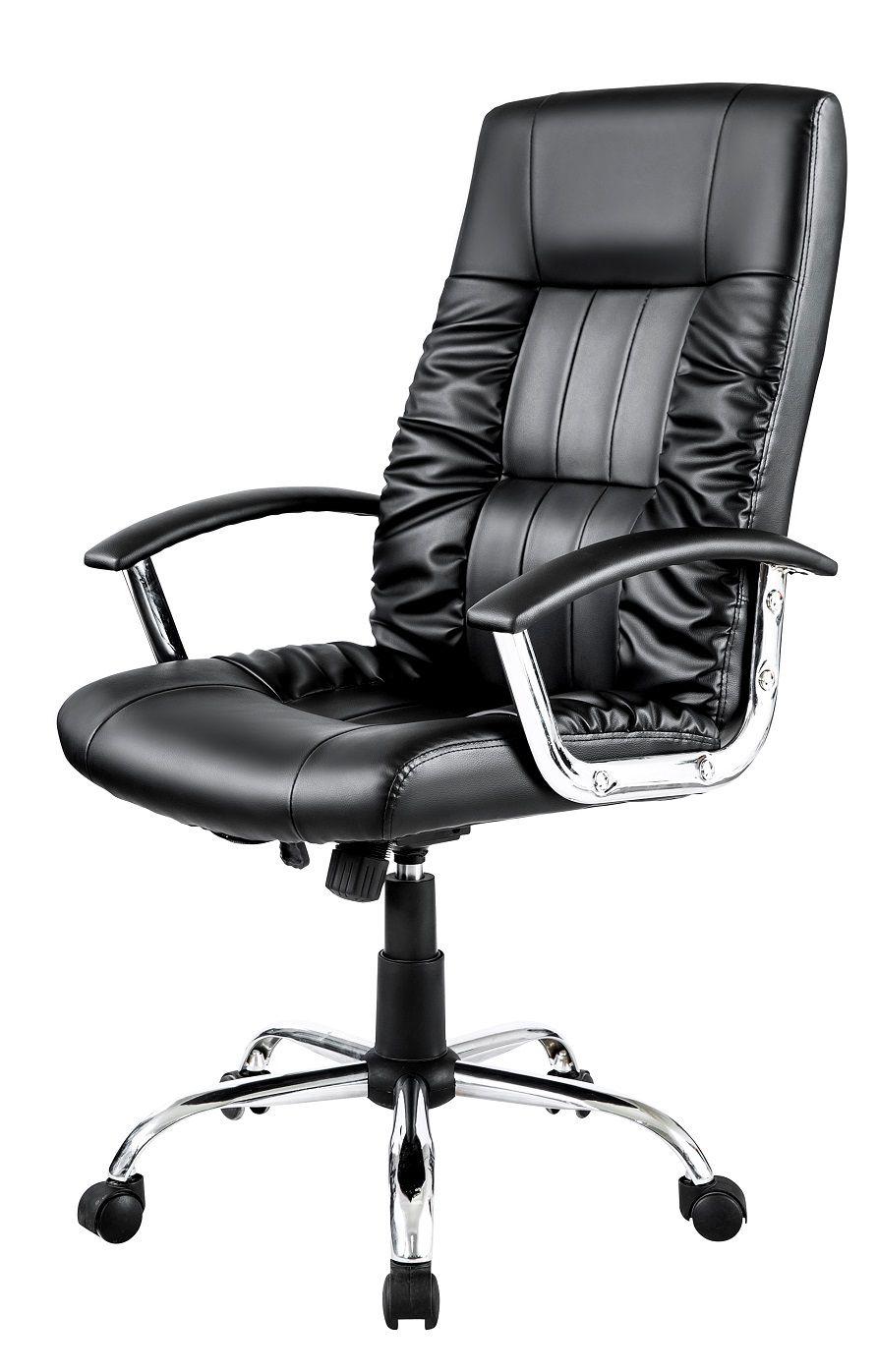 Cadeira Presidente Pelegrin PEL-9299 em Couro PU Preta