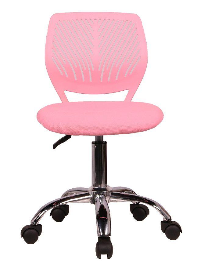 Cadeira Secretaria Kids Pelegrin PEL-3300 Tela Mesh Rosa