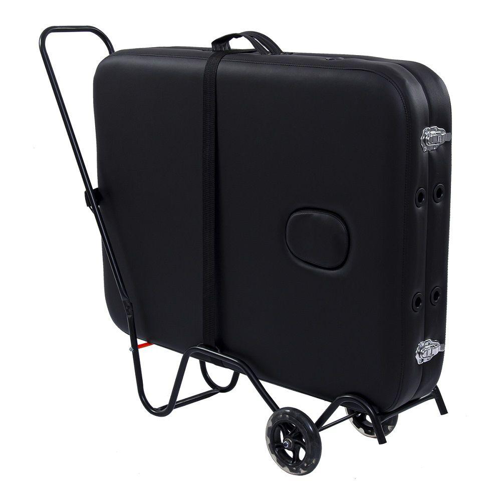 Carrinho para Transporte de Maca Portátil Pelegrin PEL-0303 em Aço