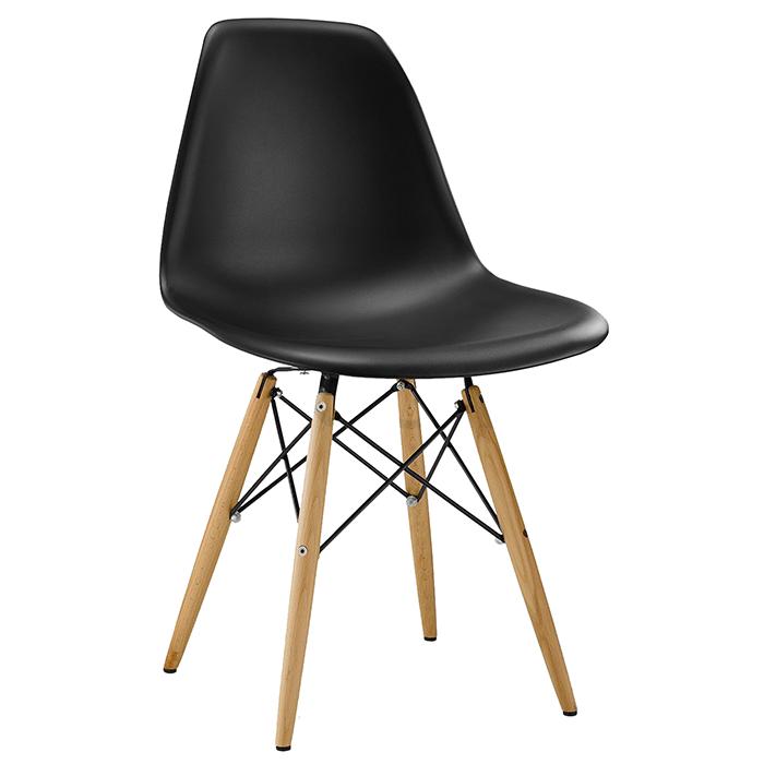 Conjunto Cadeira em ABS PW-071 e Mesa Coffe Eiffel Wood