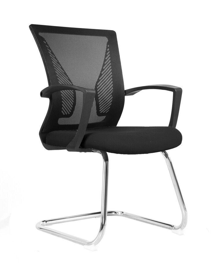 Conjunto com 1 Cadeira Diretor e 2 Cadeiras Interlocutor Pelegrin PEL-0201 Tela Mesh Preta
