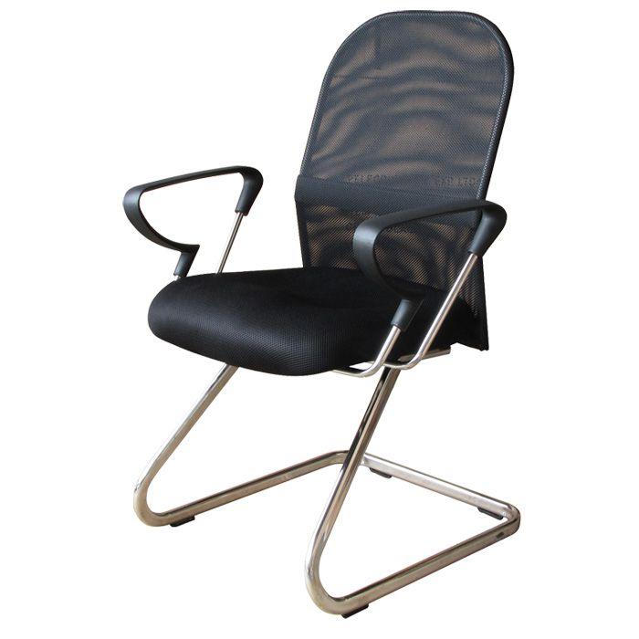 Conjunto com 1 Cadeira Diretor e 2 Cadeiras Interlocutores Pelegrin PEL-501/PEL-8036 em Tela Mesh Preta