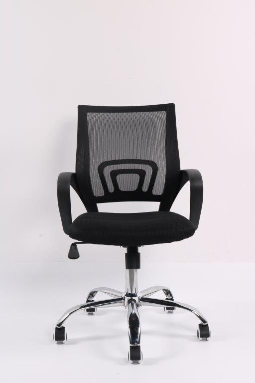 Conjunto com 1 Cadeira Diretor e 2 Cadeiras Interlocutores em Tela Mesh Pelegrin PEL-CR11 Preta