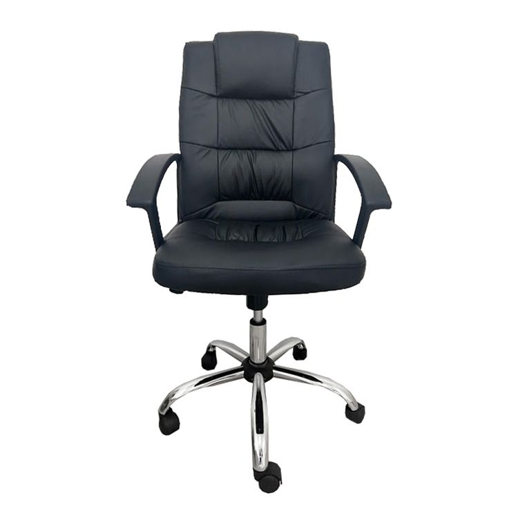 Conjunto Com 1 Cadeira Presidente E 2 Cadeiras Interlocutores Pelegrin Em Couro Pu Preta PEL-8208h/V